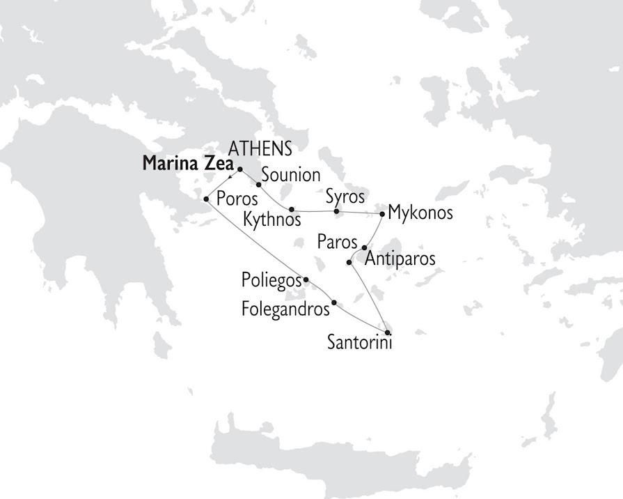 Crucero Joyas de las Cícladas por las Islas Griegas 8 días