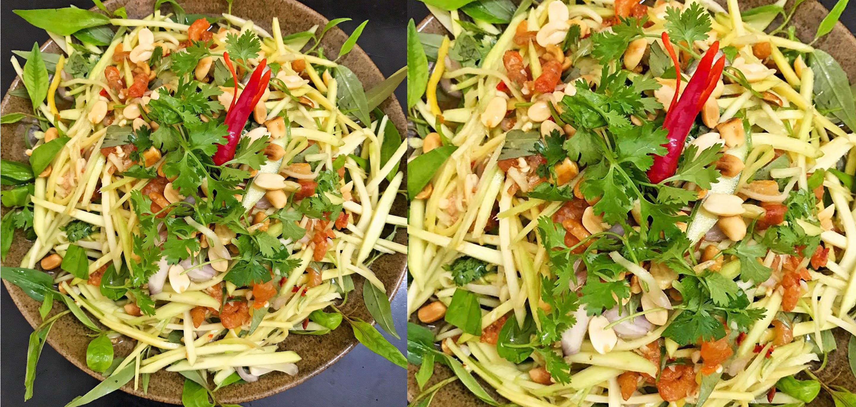 Gỏi xoài trộn tôm khô ăn chơi cực dễ làm thiệt ngon