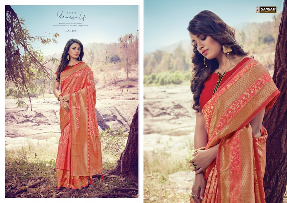Sangam Prints Tanishq Sarees Catalog Lowest Price
