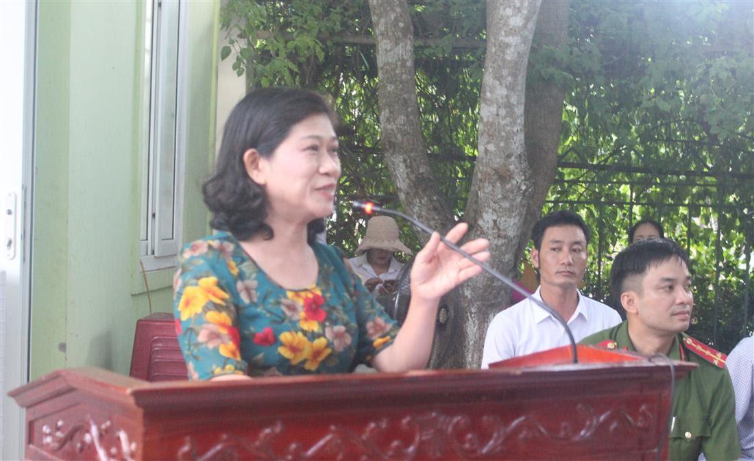 Đồng chí Nguyễn Thị Thanh Hương, Phó Giám đốc Sở VH &TT phát biểu tại buổi diễn tập