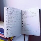 Photos of a bullet journal