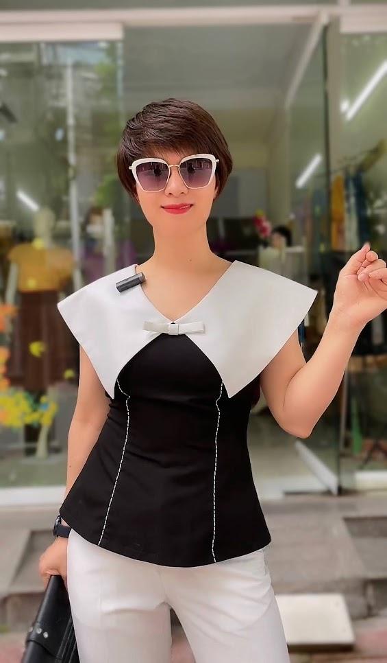 áo cổ to này quá mix với quần baggy thời trang thủy hải phòng