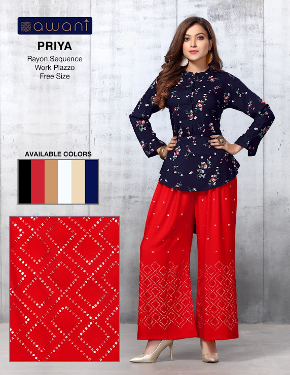 Awani Priya Branded Palazzo Catalog Lowest Price