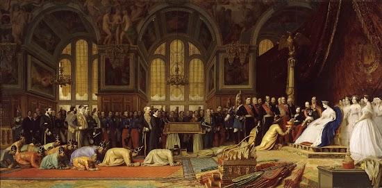 Jean-Leon Gerome (1824 -1904), <em>«Empfang der siamesischen Botschaft im Schloss Fontainebleau am 27. Juni 1861»</em>, 1864, Schloss von Versailles