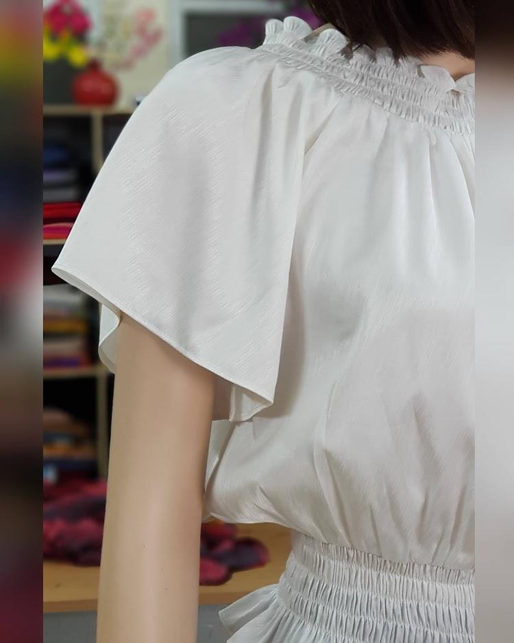 áo trễ vai mix chân váy xòe V715 Thời Trang Thủy quảng ninh