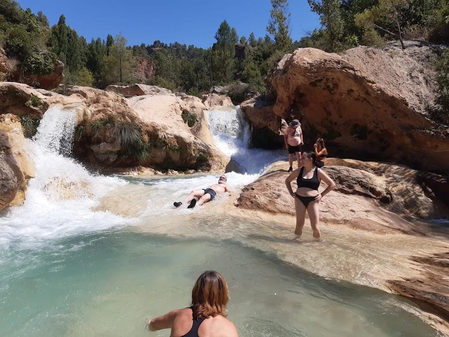 Remontar el rio Escabas en Fuertescusa (Cuenca)