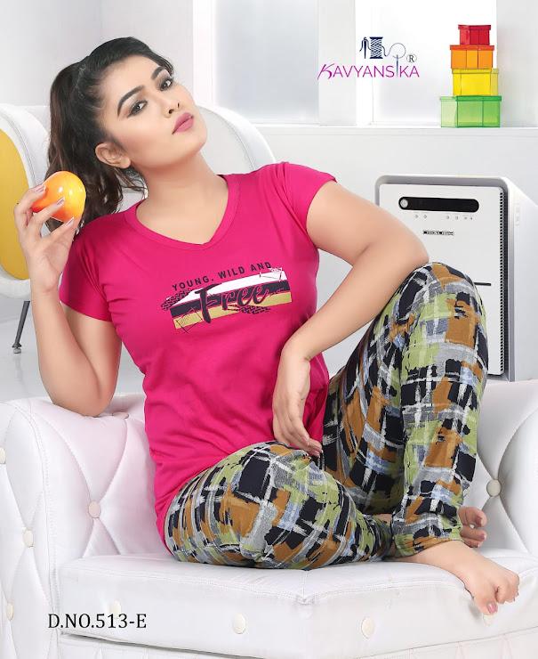 Grand Vol 513 Kavyansika Ladies Night Suits Manufacturer Wholesaler