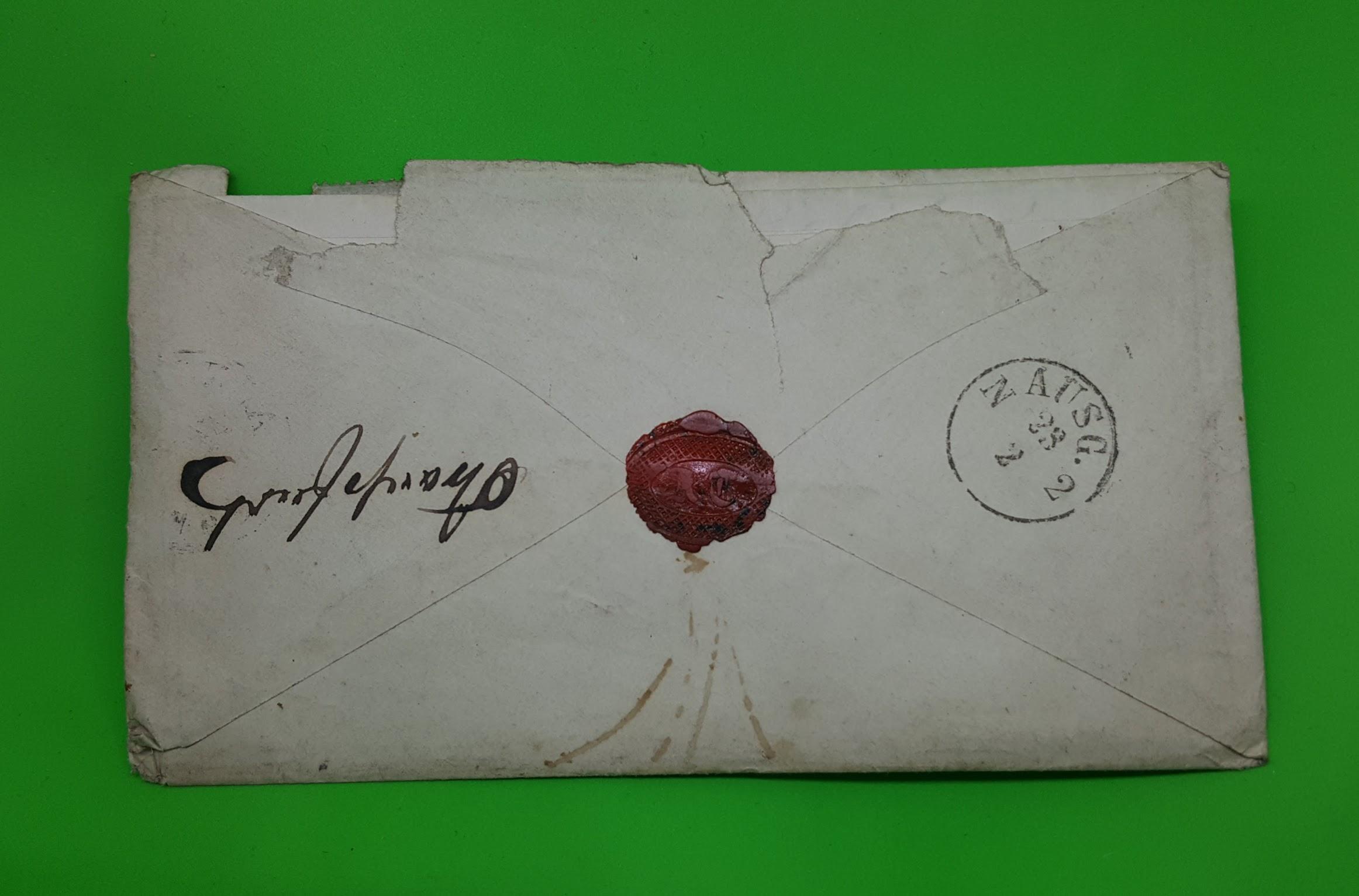 Brief, Einschreiben von Arnstadt nach Weißensee (Thüringen), 22.2.1871 bis 23.2.1871