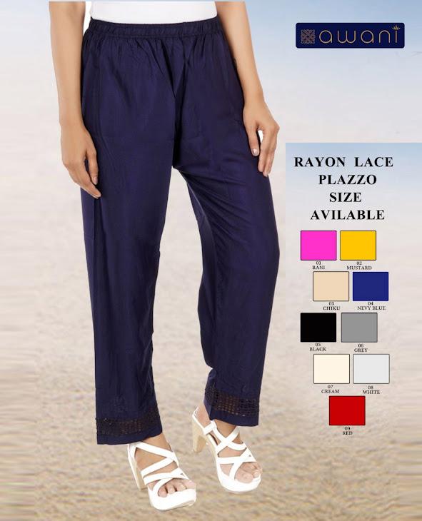Awani Rayon Lace Branded Palazzo Catalog Lowest Price
