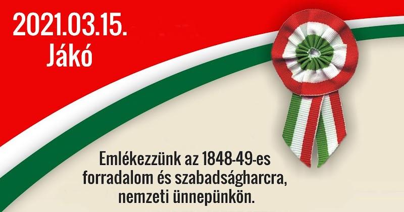 Megemlékezés - 1848-49-es forradalom és szabadságharcra 2021