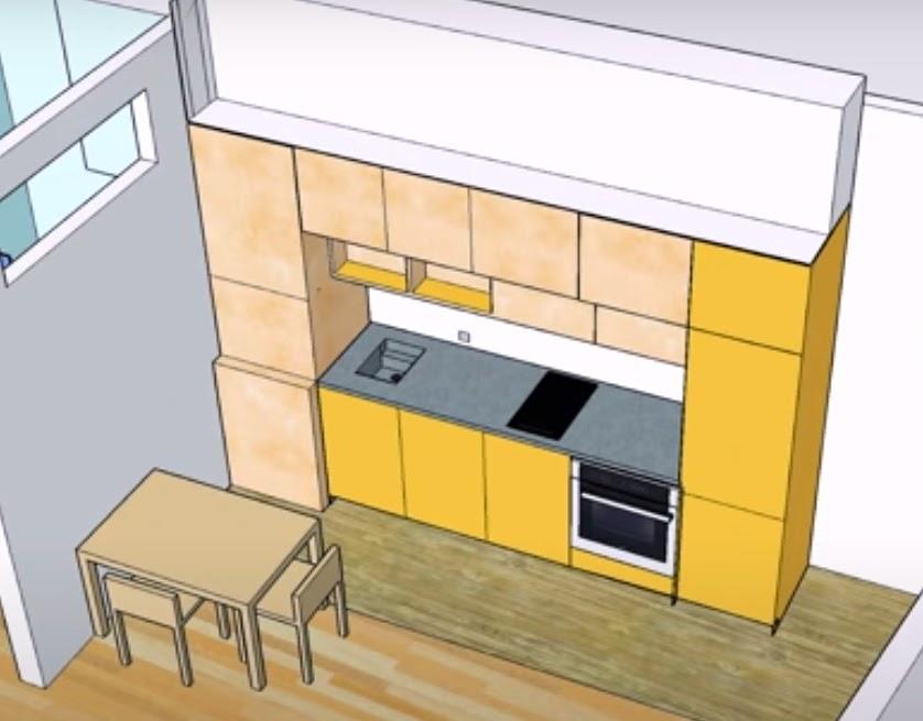 Проект кухонной мебели из фанеры