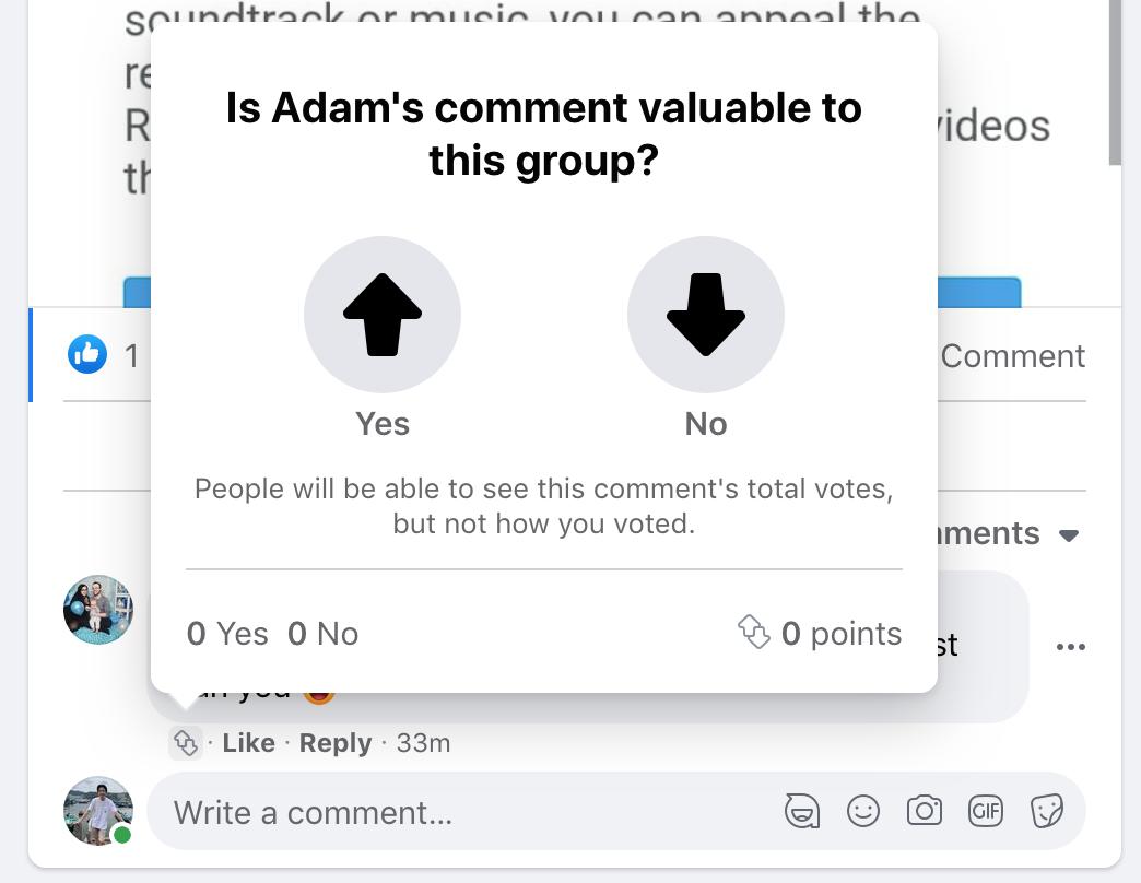 Facebook's Comment Voting