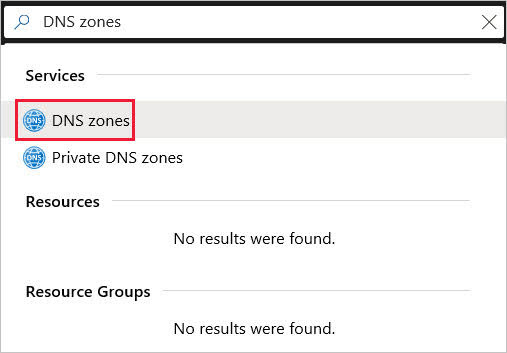 vps-azure-search-for-and-select-dns-zones