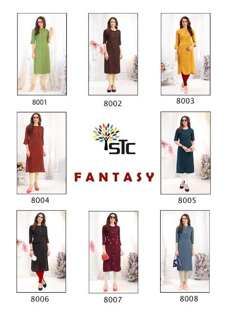 Fantasy Stc Branded Knee Length Kurtis Manufacturer Wholesaler