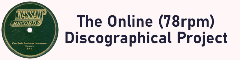 The Online Discographical (78rpm) Project