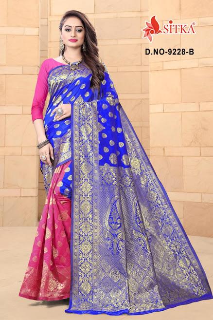 Sitka Bhagyalaxmi 9228 Sarees Catalog Lowest Price
