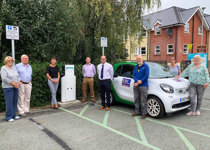 First car charging points go live