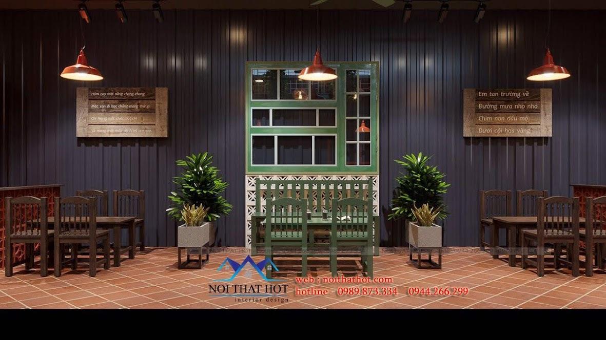 thiết kế quán trà chanh