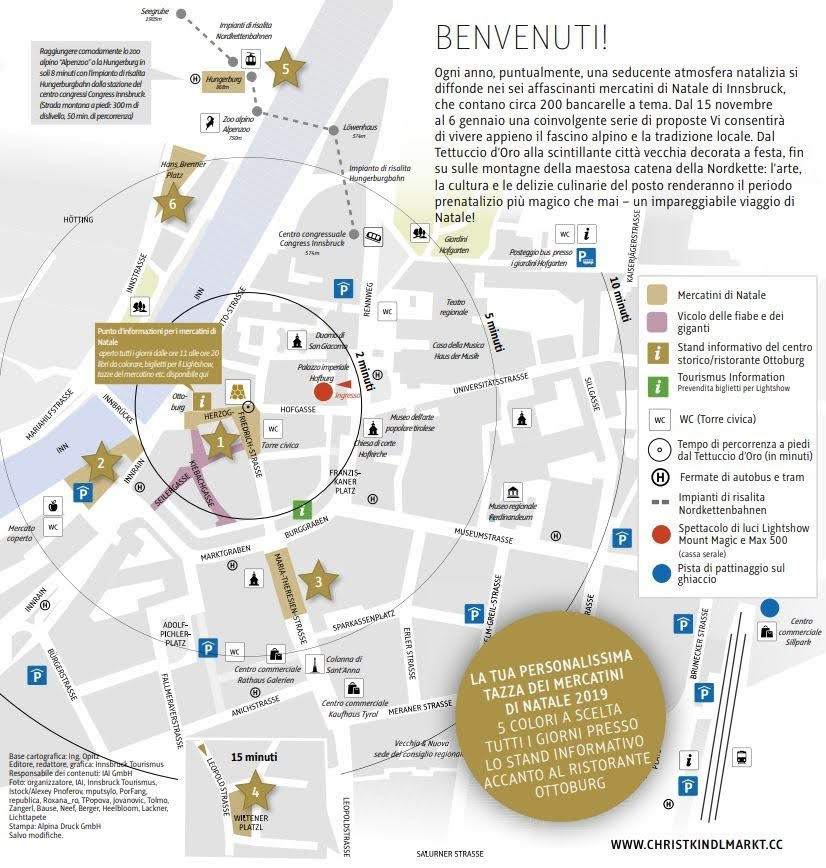 mappa mercatini Innsbruck