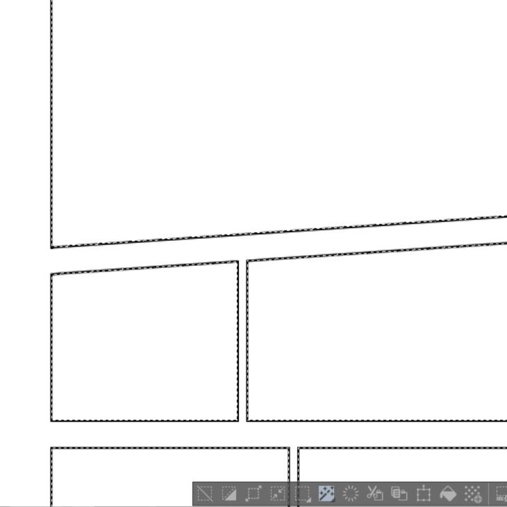 選択範囲の境界線を描画
