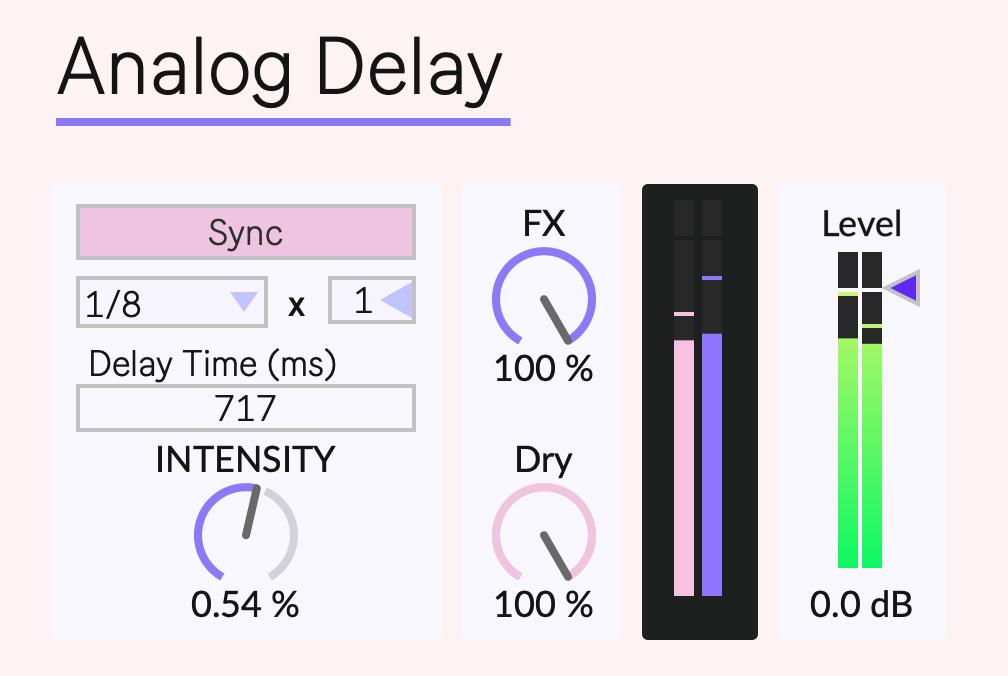 ableton M4L Analog Delay
