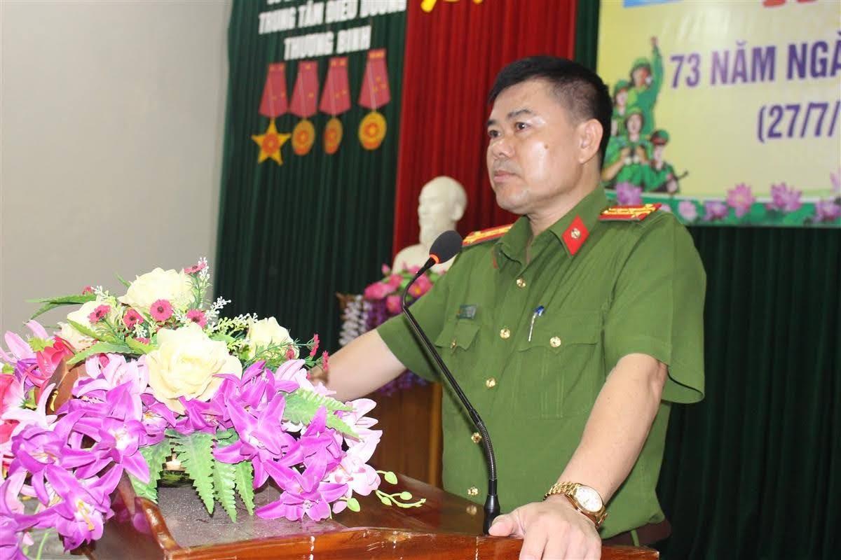 Đại tá Lương Thế Lộc, Trưởng phòng bày tỏ sự tri ân với sự hy sinh với các thế hệ đi trước