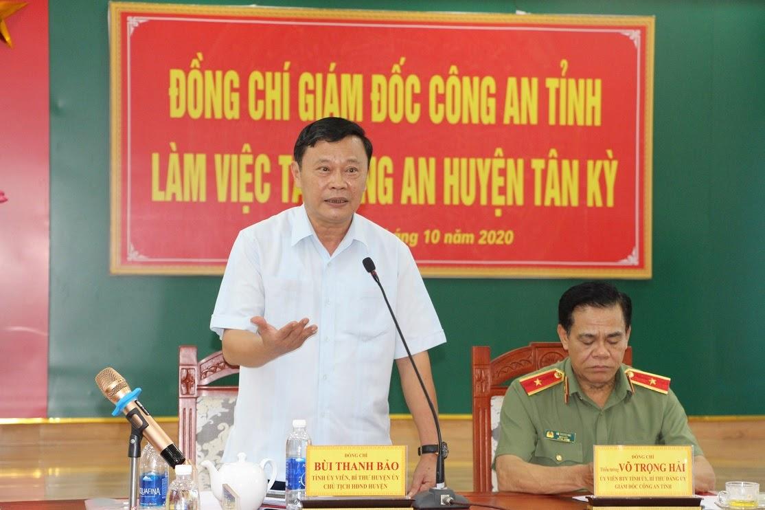 Lãnh đạo Huyện ủy, UBND huyện Tân Kỳ đánh giá cao những kết quả mà Công an huyện đạt được trong 9 tháng đâu năm.