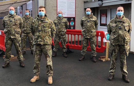RAF flies in to support Powys Covid fight