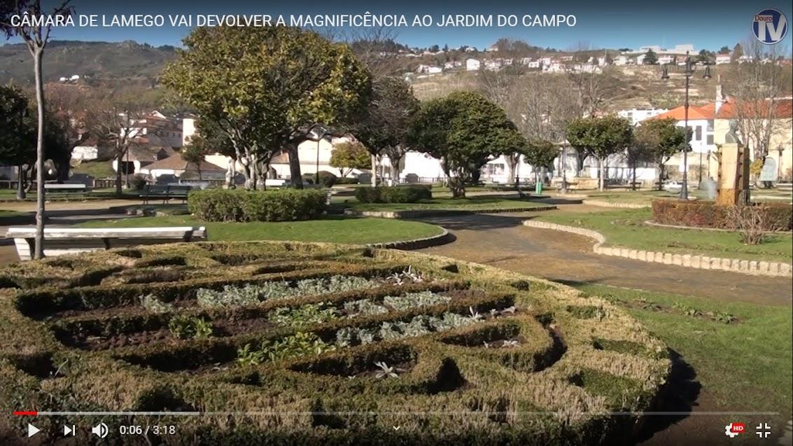 Vídeo - Câmara de Lamego vai devolver a magnificência ao jardim do campo