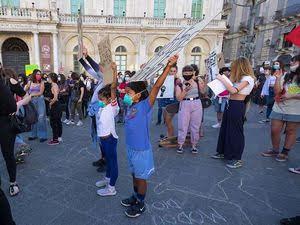 manifestazione Black Lives Matter a Catania