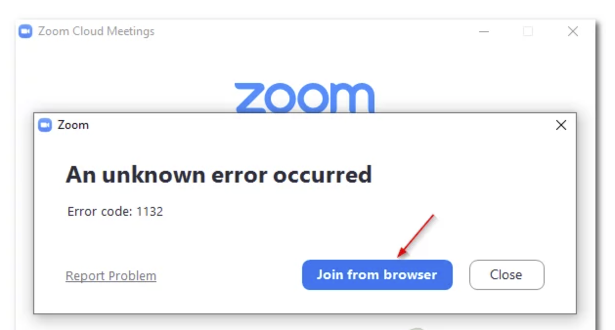 Solved: How do I fix Zoom Cloud Meeting Unknown Error 1132?