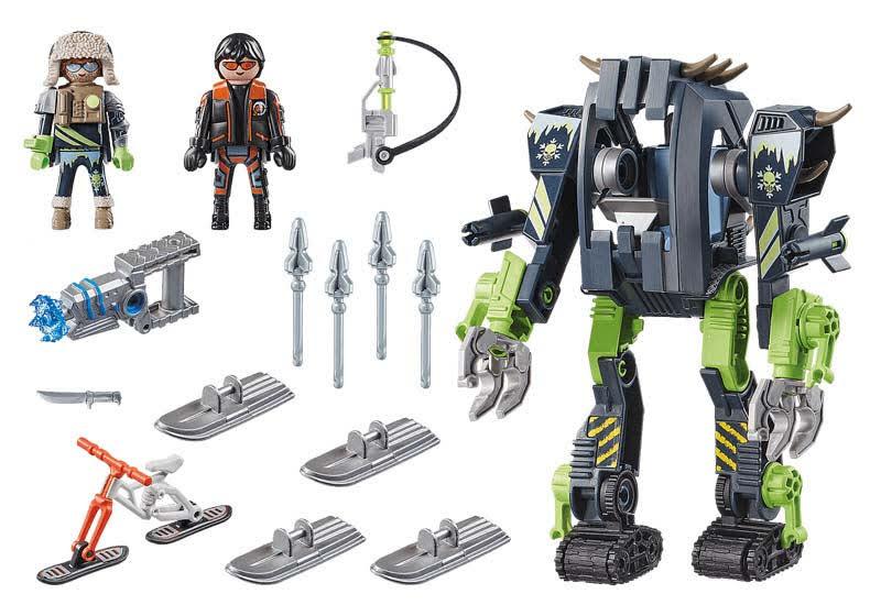 Contenido Real de Playmobil® 70233 ARCTIC REBELS: Robot de Hielo