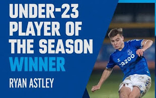 Astley wins Everton honour