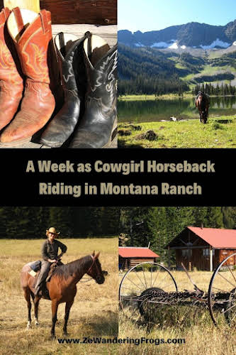 A Week as a Cowgirl Horseback Riding in Montana Ranch // Collage