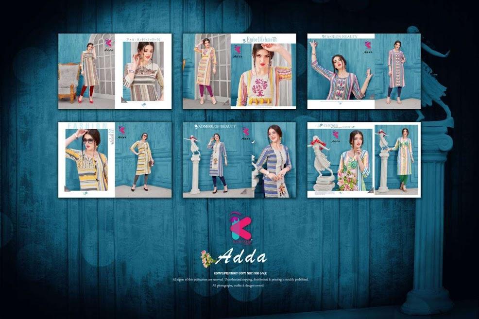 Adda Kersom Branded Straight Cut Kurtis Manufacturer Wholesaler