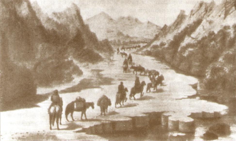 Поисковая геологическая партия на Алтае.