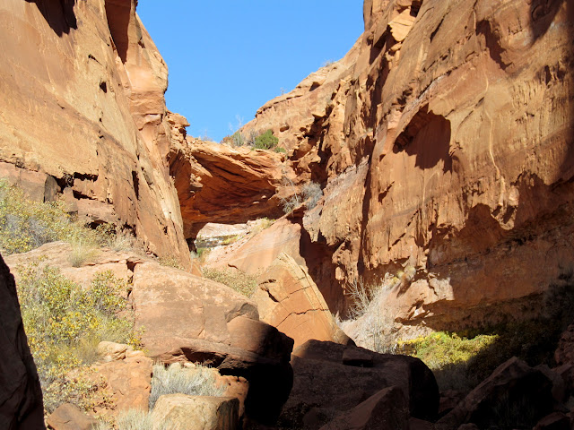 End of the third canyon at a dryfall