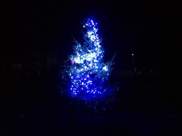 伊里前商店街のクリスマスツリー