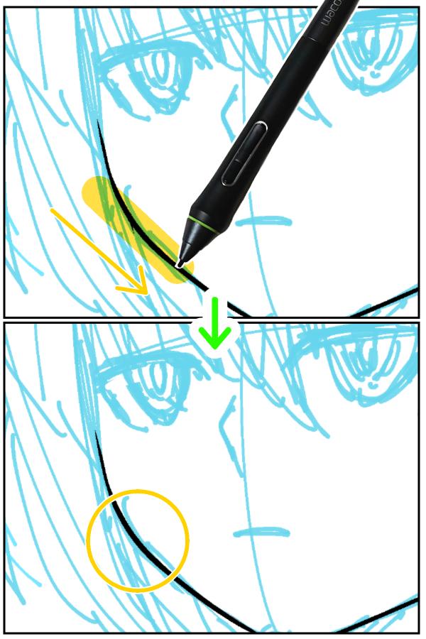 クリスタ:ベクター線単純化(短い線の消去)