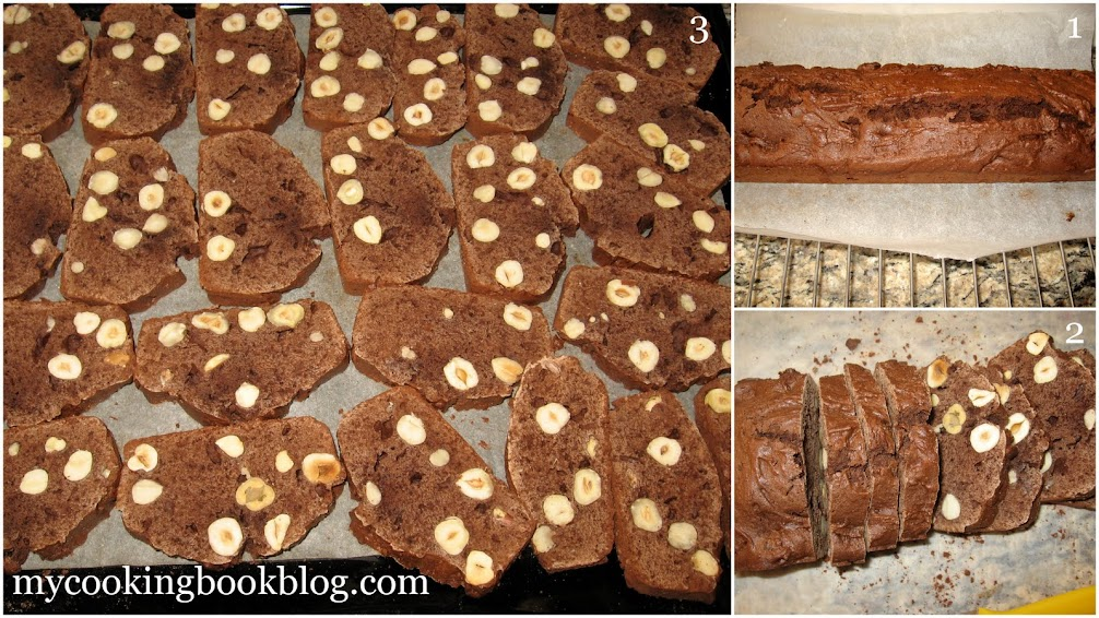 Бишкоти (Biscotti) с лешници, какао и нескафе