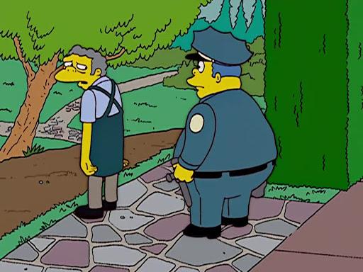 Los Simpsons 14x22 Moe se convierte en niñera