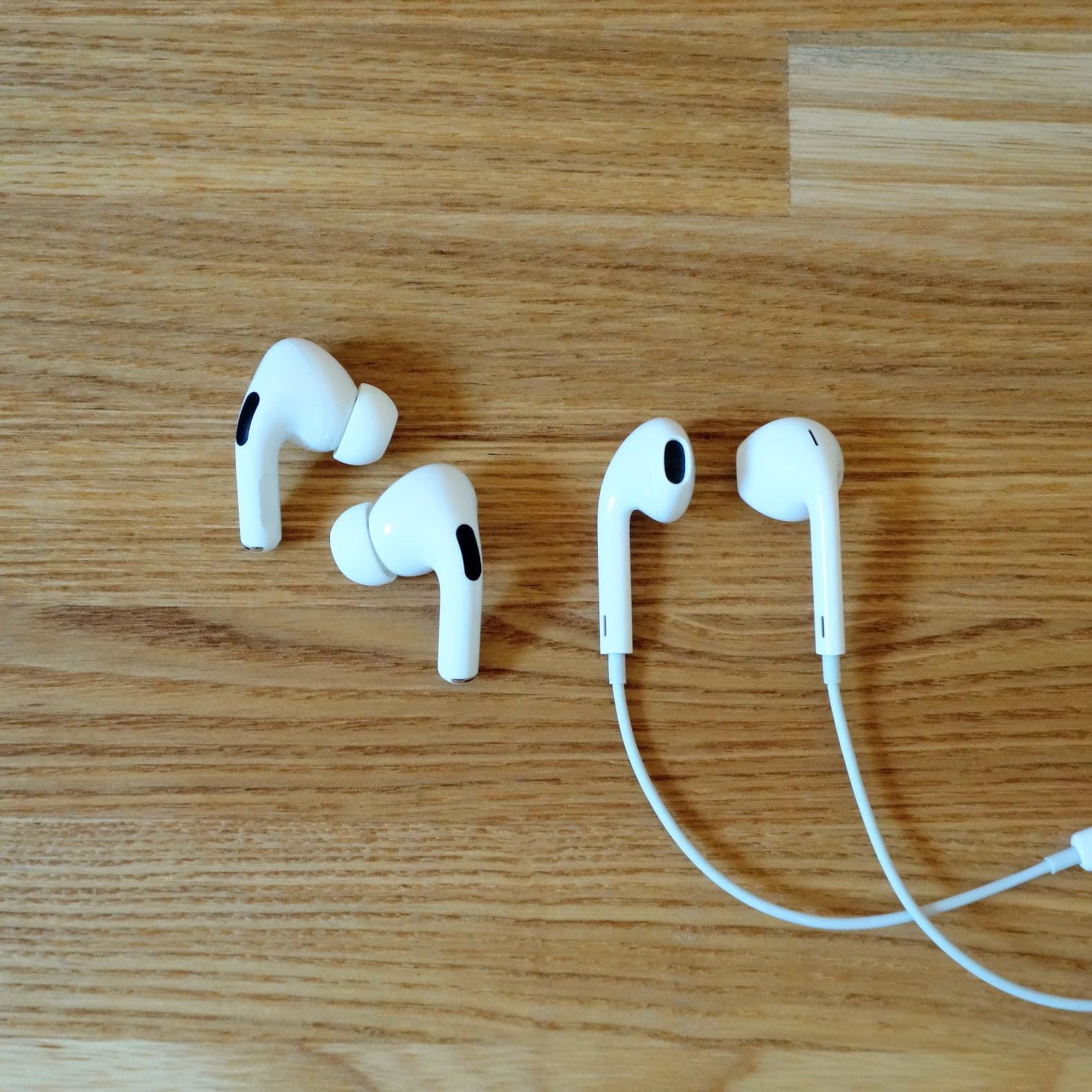 EarPods レビュー AirPods Proと写真