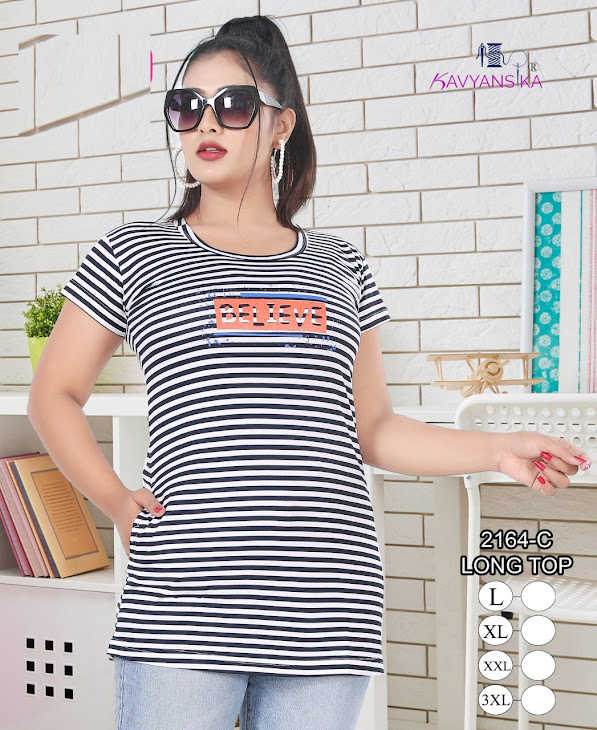 Pocket Long Tshirt 2164 Kavyansika Girls Long Tshirt Manufacturer Wholesaler
