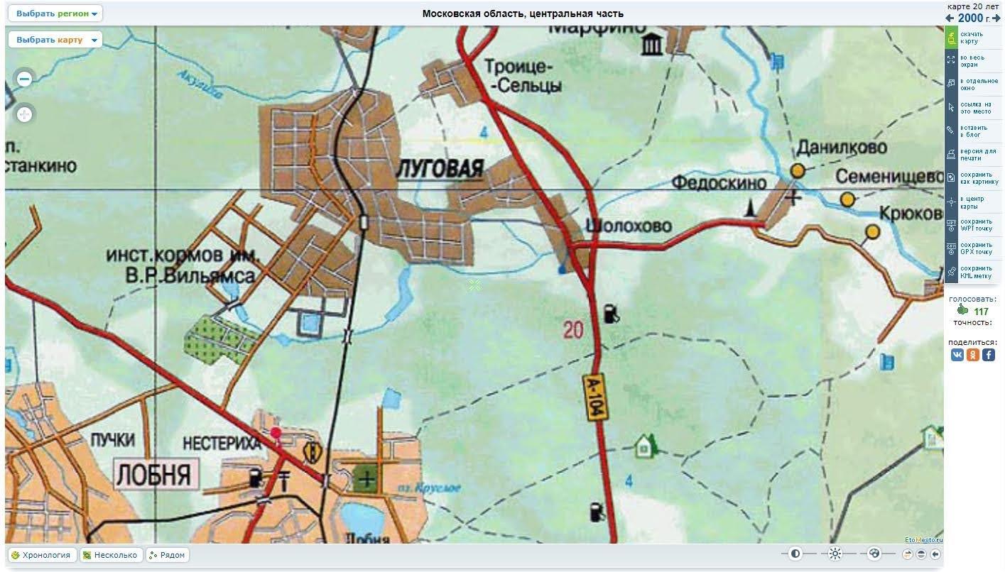 Карта-Раздериха-2000 - http://www.etomesto.ru/map-mosobl1/