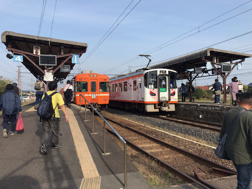 人生初の出雲旅行記06:一畑電車で出雲から松江へ移動。