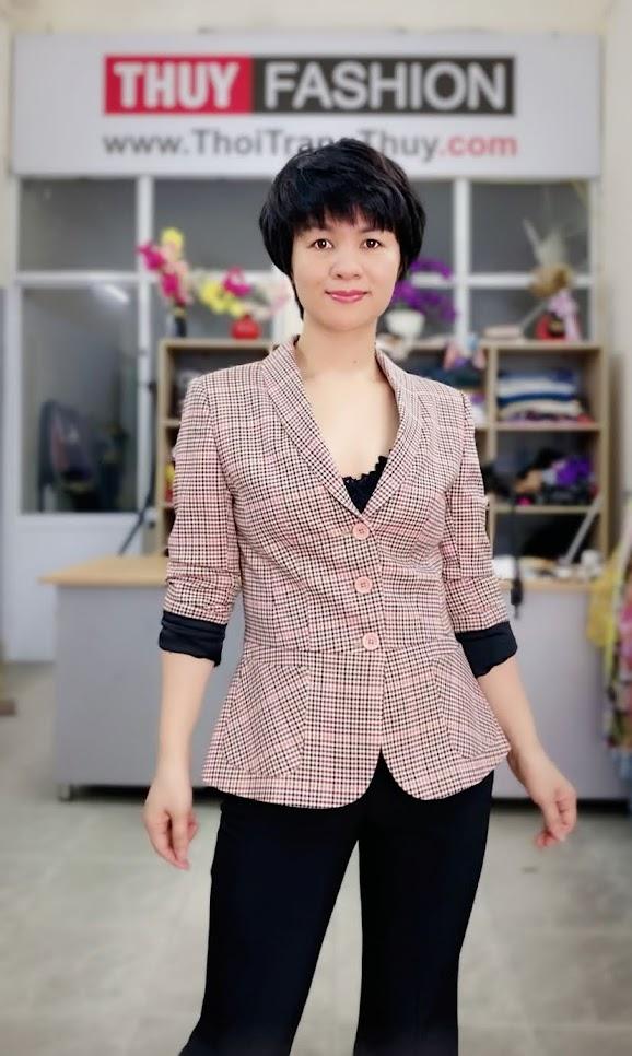 Áo vest nữ công sở kiểu peplum che bụng V739 thời trang thủy hải phòng 1