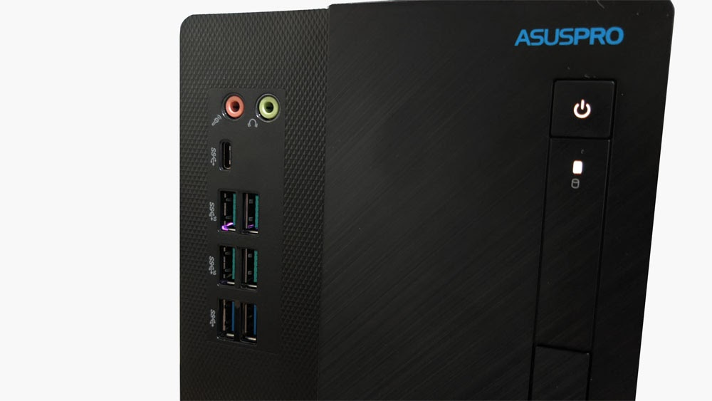 Review ASUS S641MD - Front IO port