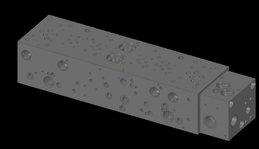 Исходная геометрия гидравлической плиты до её оптимизации при помощи Ansys Discovery Live