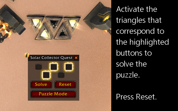 SolarCollector Quest Mode solution.