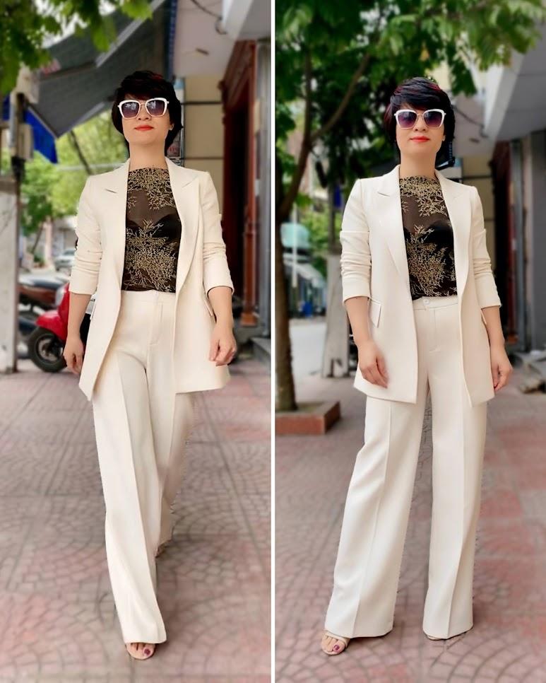 Áo vest nữ dáng suông và quần suông ống rộng V745 thời trang thủy ở thái bình